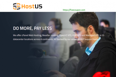 HostUS Coupon on May 2021 – Save 50% Off