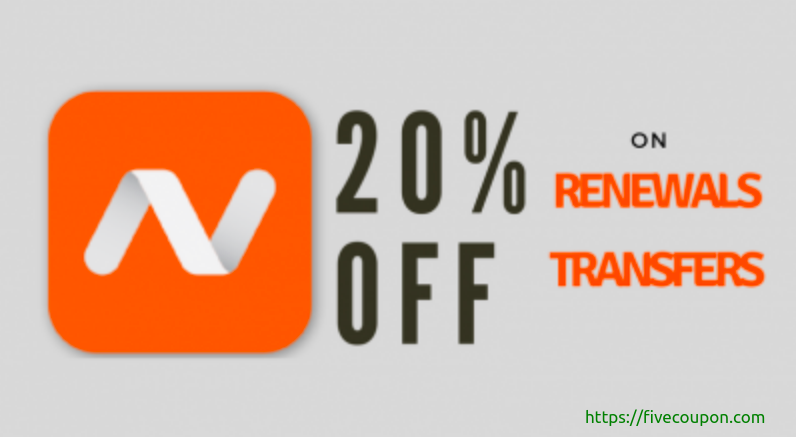 Save 20% Off Namecheap Renewal Coupon on May 2021
