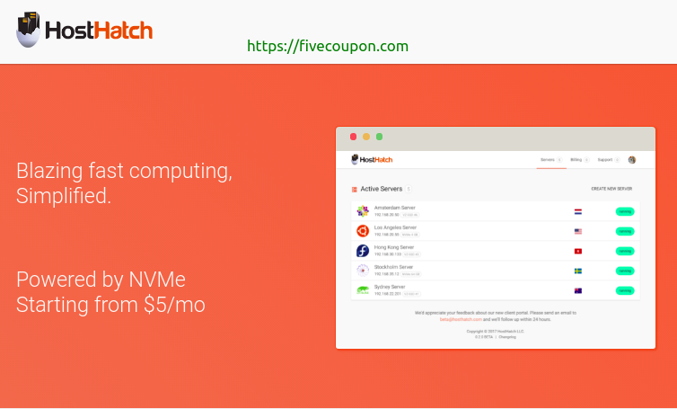 HostHatch Coupon October 2021 – $20/Year NVMe VPS