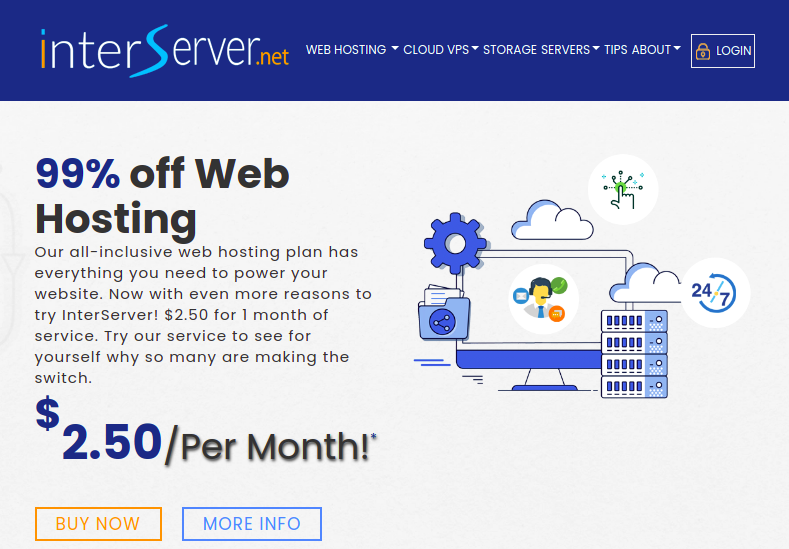 InterServer Coupon & Promo Codes on October 2021 – 99% Off Web Hosting