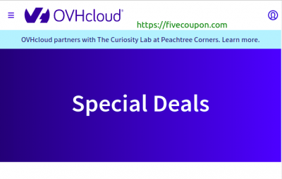 OVHcloud Coupon & Promo Codes on October 2021